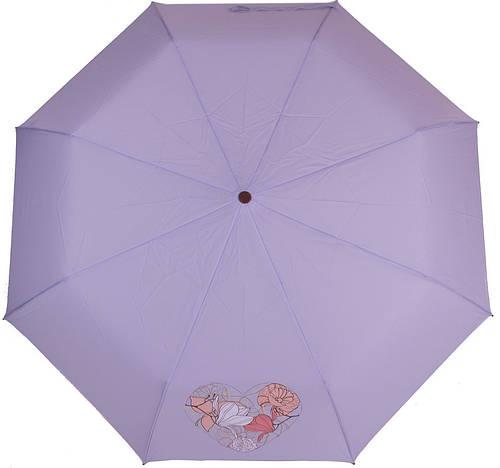 Превосходный женский полуавтоматический зонт, антиветер AIRTON (АЭРТОН) Z3631-4190 голубой