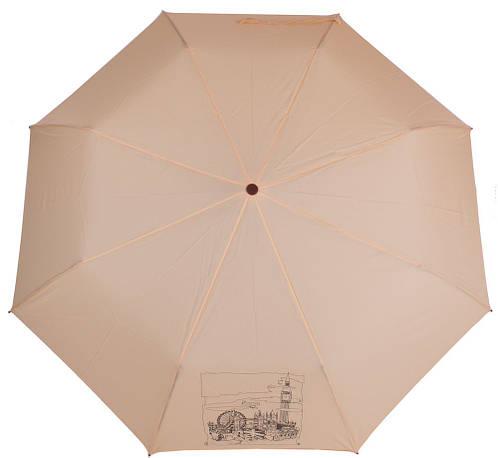 Женский полуавтоматический зонт, антиветер AIRTON (АЭРТОН) Z3631-4175 бежевый