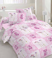 Постельное белье Розовые цветы, бязь (двуспальное)