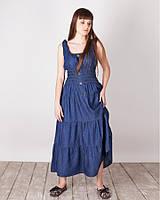 Модный Летний стильный джинсовый сарафан