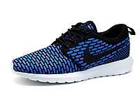 Мужские кроссовки Nike RosheRun, текстиль., черно-голубые, р. 42 43 44 45 46, фото 1