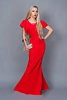 Длинное вечернее платье мод 238-5 (А.Н.Г.) размер 44,46,48 красное