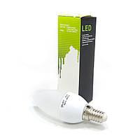 Лампа E14 свеча LED Galaxy Standard 3W 6000K. Лампа светодиодная. Лампочка для дома.