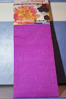 Бумага для творчества разноцветная гофрированная (крепированная) 2000*500мм. Цвет сиреневый.