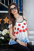 Легкая летняя майка-блузка Маки