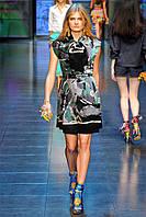 Финальная распродажа. Платье GUCCI в черно изумрудных тонах с бантом на шее и под поясок OB90012