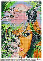 """""""Девушка кошка"""".  Схема для вышивки бисером"""