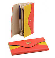 Яркий женский кожаный кошелек Bretton