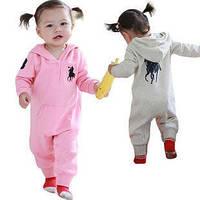 Теплая детская трикотажная одежда для новорожденных песочник поло для девочек