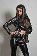 Модная курточка с широким воротником