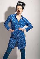Модное платье-рубаха с карманами, фото 1