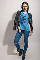 Модная джинсовая кофточка с принтом