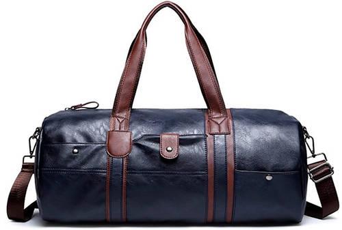 Вместительная мужская дорожная сумка с отделкой на 21 л. Traum 7056-02, синяя