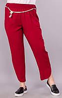 Миранда. Молодежные брюки большого размера. Бордо. (Р)., фото 1