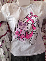 Пижамы с коротким рукавом и