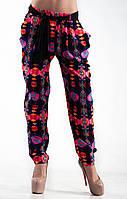 Легкие летние брюки  с поясом и карманами