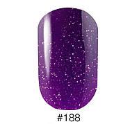 Гель-лак Naomi Gel Polish 188, 6 мл (фиолетовый, с мелкими блестками)