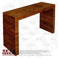 Консольный (журнальный) узкий стол оплетённый веревкой из абаки (банановое волокно, мани́льская пенька́)