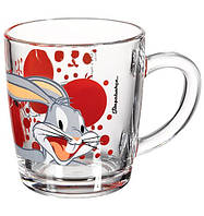 Кружка стеклянная Pasabahce Bugs Bunny 350 мл (55531-1), 2 шт