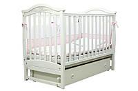Детская кроватка Соня ЛД3 Маятник с ящиком Верес(белая)