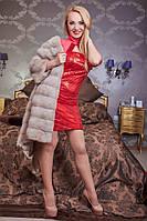 Яркое праздничное платье в паетках с модным болеро , фото 1