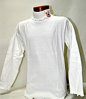 Гольфик белый трикотажный с бантиком