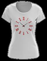 Стильная футболка женская MINIMAL CLOCKS