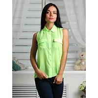 Женская блуза, без рукава, удлиненная r