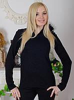 Кофта женская черная, фото 1