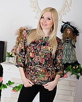 Блузка женская с поясом, фото 1