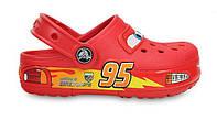 Детские Crocs Cars CrocsLights Clog красные светящиеся