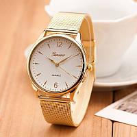 Женские наручные часы Geneva Сталь Золото