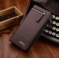 Кожаный мужской кошелек Baellerry Italia Коричневый (Портмоне, клатч, бумажник)
