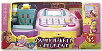 Набор игровой Электронный кассовый аппарат с микрофоном розовый K30241