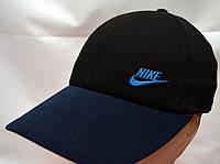 Бейсболка трикотажная мужская синий/черный