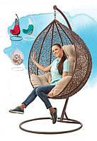 Подвесное кресло из искусственного ротанга: модели Gardi, Ledi, цвет в ассортименте, подушка, до 120 кг