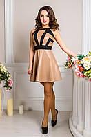 Платье женское с открытыми плечами в 2х цветах DD Линси