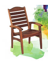 Удобное деревянное кресло с подлокотниками, древесина черешни Меранти,  58*69*102 см