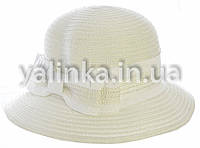 "Шляпа летняя ""Бантик"" белая"