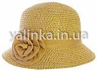 "Шляпа летняя ""Розочка"" бежевая"