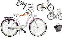 НОВИНКА 2016!!! Городской Велосипед CITY BIKE 28 + скорости Shimano Nexus 3 + Амортизатор + Корзина ПОЛЬША