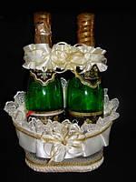 Корзинка для шампанского Золотистый ободок