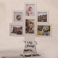 """Фоторамка на подарок семейное дерево """"Моя семья"""" 6 фото"""