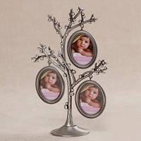 "Фоторамка семейное дерево ""Семья"" 3 фото"
