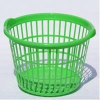 Корзина для белья АЛ-пластик круглая
