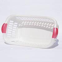 Корзина для белья АЛ-пластик квадратная
