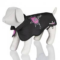 "TX-30474пальто для собак""Avallon Splish Splash""45см,чёрный/розовый"