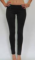 Черные трикотажные лосины брюки № 51 без флиса р. 40-50