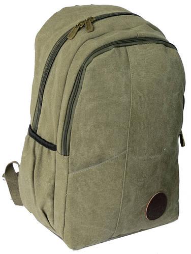 Рюкзак городской 20 л. с отделением для ноутбука, коттон F.H. Gallop, C037 хаки