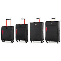 Комплект чемоданов Members Hi-Lite (S/M/L/XL) Black 4шт